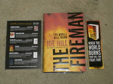 JOE HILL: THE FIREMAN: SIGNED UK FIRST EDITION HARDCOVER 1/1 FLYER & BOOKMARK