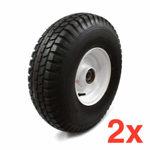 2x STATIC CARAVAN WHEELS TYRE ASSEMBLY WITH BEARING 500-8 35MM BEARING