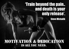 Top Gym Motivational quotes Poster - #2012 - A3 - 420mm x 297mm