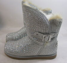 new ladies Silver Urban Glitter Rhinestone Sexy Ankle Boot Size 7.5