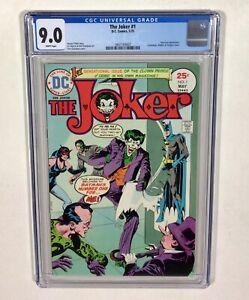 The Joker #1 CGC 9.0 KEY! WHITE PAGES! (Batman,Joker,Riddler,Catwoman) DC Comics