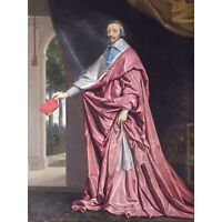 De Champaigne Portrait Cardinal Richelieu Painting XL Wall Art Canvas Print
