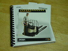 Crown Pe 4000 series Forklift Service / Parts and Operator Manuals 2003 New!