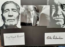 Eddie Richardson & Mad Frankie Fraser signed cards with thee photos
