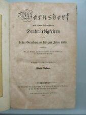 Palme WARNSDORF MIT SEINEN HISTORISCHEN DENKWÜRDIGKEITEN 1852  8 Tafeln Böhmen
