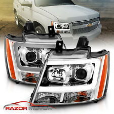 2007 2014 Chevy Suburbantahoeavalanche Led Light Bar Projector Headlights Pair Fits 2007 Chevrolet Suburban 1500