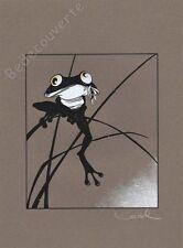 Affiche Serigraphie BD Régis LOISEL grenouille signe 30x40 cm