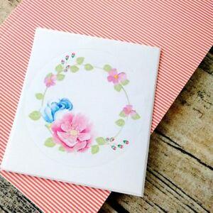 Planner wreath stickers, Bullet journal decoration, Flower stickers,