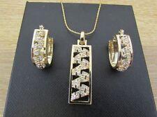 Parure di lusso trasparente in oro giallo