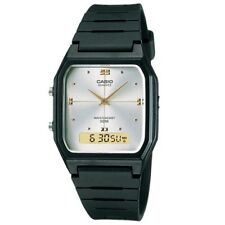 Casio Aw48he-7av Mens White Dial Dual Quartz Watch With Resin Strap
