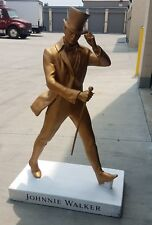 """Johnnie walker whisky giant 50"""" gold bar statue advertising sign"""