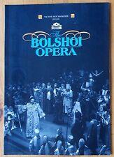 Bolshoi Opera programme London Coliseum 1999 Boris Godunov Love For Three Orange