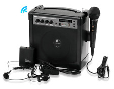 Pyle-Pro Portable Wireless Karaoke PA Speaker Amplifier System (PWMA220BM)