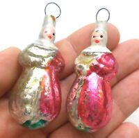 2 Alten Antiker Russen Christbaumschmuck Glas Weihnachtsschmuck Clowns Ornaments