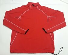 Levelwear Mens Large Red Breathable Athletic Jacket Pullover 1/2 Zip EUC
