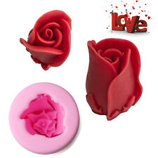 3D Rose Flower Fondant Cake Sugarcraft Mold Candy Chocolate Silicone Mould Tool