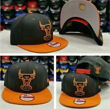 New Era NBA Chicago Bulls Black Burn Orange 9Fifty Snapback Hat