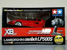 New Open Box 1/10 Tamiya RC Red Lamborghini Countach LED TT-01 E LP500S XB 57780