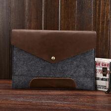 Men's Genuine Leather Briefcase Handbag Retro Tablet Document Holder Cases Bag