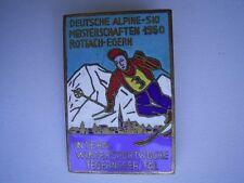 Seltener Emaillé Anstecker Deutsche Alpine Ski Meisterschaft 1950 Rottach-Egern