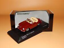 Porsche 356 A Cabriolet 1956 in Polyanta Rot 400064231 von Minichamps  1:43 OVP