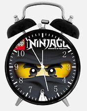 "Lego Ninja Ninjago Alarm Desk Clock 3.75"" Home or Office Decor X62 Nice For Gift"