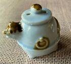 "Vintage Ceramic Unusual Pie Bird Vent of a Bird or a Frog  Brown & Blue 2"""