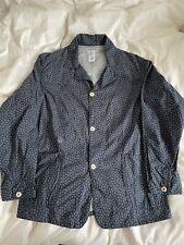 Post Overalls indigo discharge shirt Jacket sz M Made In USA Oi Polloi Garments