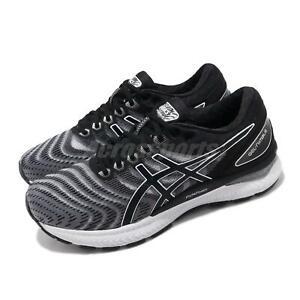 Asics Gel-Nimbus 22 D Wide White Black Women Running Shoes Sneakers 1012A586-100