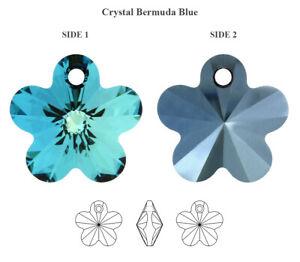Genuine SWAROVSKI Crystal Bermuda Blue Color Pendants * Many Shapes & Sizes