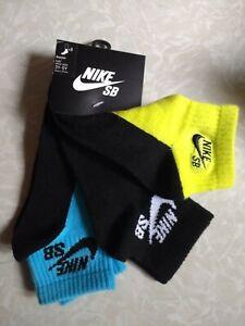 3 Pair, New,  Nike SB  Boys / Kids Quarter Socks  3Y-5Y