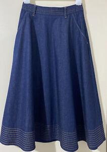 Kate Sylvester Denim Midi Skirt XS