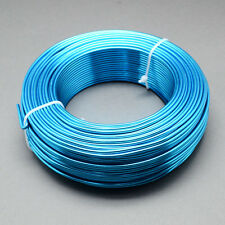 2mm Aluminium Craft Florist Wire Jewellery Making Deep Sky Blue 3m lengths