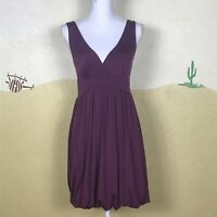 Papaya Womens Size Medium Dress Purple Taupe V-Neck Sleeveless Bubble Bottom