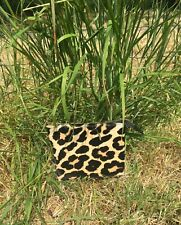 COSMETIC BAG - MAKE UP - ANIMAL PRINT - LEOPARD LEATHER