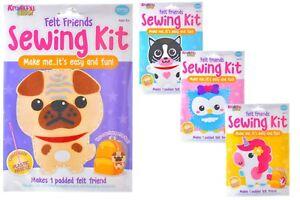 Childrens Sewing Kit - Felt Friends - Kids Craft Kits - 4 Different Designs