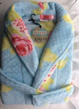 Dressing Gown Bath Robe Shabby Chic Roses Hydrangea Blue Pink White Soft Small