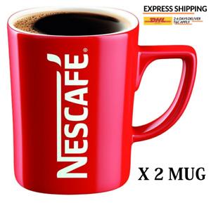 NESCAFE COFFEE MUG GIFT COLLECTION RED CUP (One Cup) X 2 MUG