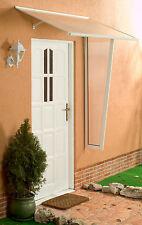 Alu Haustürvordach Standard weiß 120x85 cm mit 4,5 mm PC Stegplatten Eindeckung