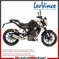 KTM DUKE 125 2012 12 LEOVINCE AUSPUFF ENDSCHALLDAMPFER LV ONE EDELSTAHL 8725