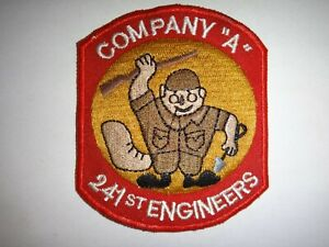 US Army Patch 241st ENGINEER Battalion Company A