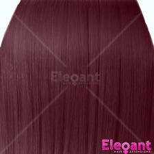 """20"""" Clip in Hair Extensions HIGHLIGHTS Cheryl Cole Red #99J Straight 8pcs 50g"""