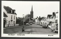 Postcard Weobley near Hereford vintage view RP #64