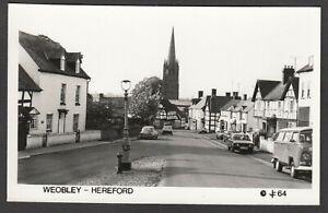Postcard Weobley near Hereford vintage view RP #64