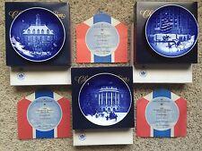 Bing & Grondahl Christmas in America Plates 1986-1988 NIB with COA
