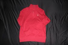 Polo RALPH LAUREN Boys Sweater Kids Rib Pullover Size 14-16 Large Red