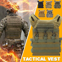 Tactical Vest Military Airsoft Molle Combat Army Plate Carrier Adjustable