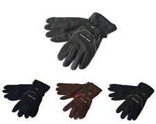 Men's Warm Sport Wind Proof Insulated Fleece Gloves One Size Adjustable Strap
