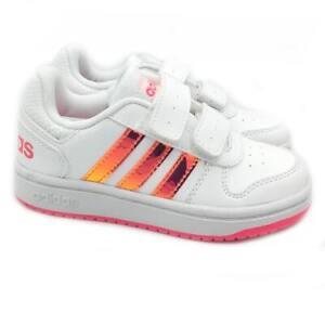 Scarpe da Ginnastica Bambina ADIDAS Sneakers Bianche a Strappo Sport 28 30 32 33