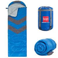BCP 4-Season 20F Lightweight Sleeping Bag w/ Carrying Case - Blue